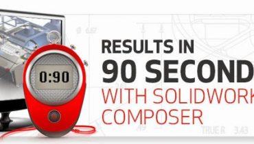 Tuloksia jo 90 sekunnissa SolidWorks Composerilla